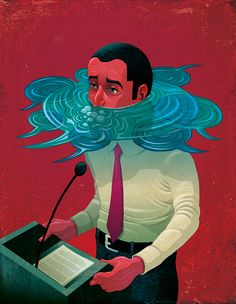 New illustration. Drowning out the speaker.