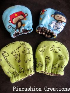 DIY Baby Mittens Great way to use scraps