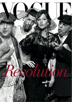 Revolution... in 25 Years of Fashion by Steven Meisel, July 2013 - Dolce & Gabbana