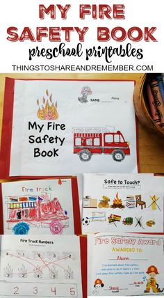 If your child is anywhere as in love with anything that has to do with fire trucks as mine is-- this unit is perfect for you! Check out this fun fire safety book for preschoolers!