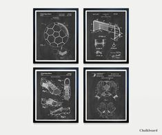 This is a SET of 4 PIECES - THE BEAUTY OF INVENTION: Patent Prints are the perfect way to cherish both the history and design of your favorite inventions. These graphic line drawings are an innovative way to liven up your walls with a touch of knowledge and elegance! We offer them in a range of Soccer Art, Soccer Poster, Canvas Prints, Framed Prints, Art Prints, Soccer Gifts, Picture Show, Football, Make It Yourself