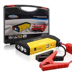 NOSTON 50800mAh Portable Power Bank and Car Jump Starter 300A Peak Advanced Safety Protection and BuiltIn 3 LED Flashlight Yellow -- Check out the image by visiting the link.