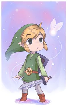 Link-  First game I ever finished by myself was Ocarina of time