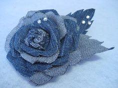 #DIY - # flor de mezclilla, en tela de jean reciclada - YouTube