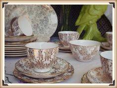 Vintage and Boho styling and hire for weddings, parties and events in Norfolk, Lincs and Cambs Art Deco Wedding Inspiration, Vintage Props, Tea Sets Vintage, Tea Service, Vintage China, Norfolk, Tea Cups, Parties, Events