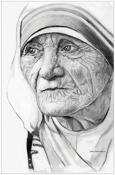 3d Pencil Sketches, Pencil Art Drawings, Art Drawings Sketches, Cool Art Drawings, Portrait Sketches, Pencil Portrait, Portrait Art, Portraits, Catholic Art