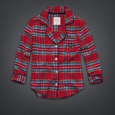 Womens Flannel Sleep Shirt | Womens Shop All | GillyHicks.com