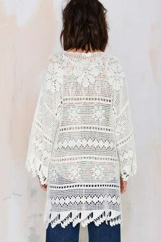 Somedays Lovin Big Wave Crochet Kimono - Kimono | Newly Added | | Jackets + Coats