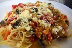 Greek Recipes, Veggie Recipes, Pasta Recipes, Vegetarian Recipes, Healthy Recipes, Spaghetti Recipes, Healthy Food, Cookbook Recipes, Cooking Recipes