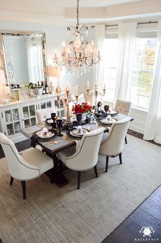 Favorites & Highlights - A Year In Review - Kelley Nan. gothic halloween dining room decor