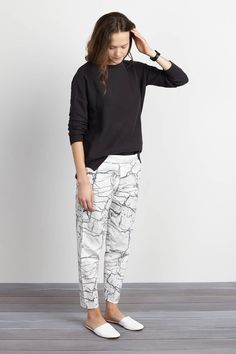 Wrap Pants - White Crackle | Emerson Fry