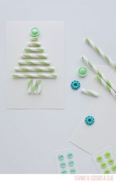 Paper Drinking Straws Crafts - Make Straw Crafts | Design Happens