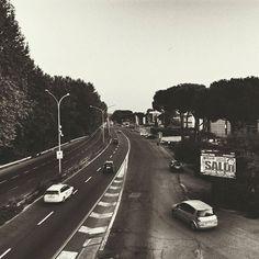 La via Salaria a #roma. Sembra ferma al 1973 by rudybandiera