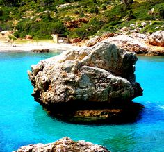 The rock in the middle of the sea, at Ikaria island, Greece. Photo by The Pic Traveler