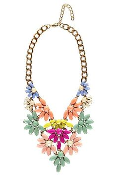 Fiona Statement Floral Layered Necklace at boohoo.com