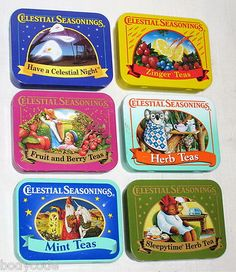 Celestial Seasonings tins