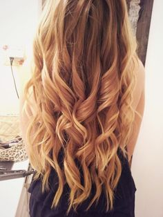 Big lovely curls. Always try to leave the ends a little straight to give it a more natural look.
