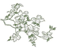 Magenta - Cling Rubber Stamp - Dogwood Branch