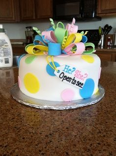 Gender Announcement Cake (Part 1) - Boy or girl?