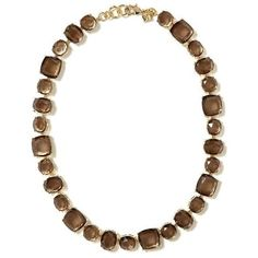 Banana Republic Faceted Stone Necklace found on Polyvore