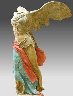 Vers 220-185 av. J.-C. Marbre de Paros pour la statue et marbre gris de Rhodes…