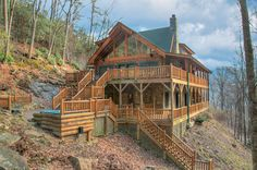 "Pictures of my home in Maggie Valley,NC.  It is a 10"" log home designed by Heritage Log Homes."