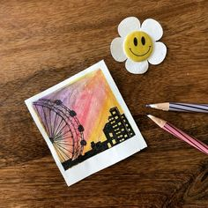 Watercolor art painting of polaroid painting series Cute Canvas Paintings, Small Canvas Art, Mini Canvas Art, Mini Paintings, Canvas Canvas, Mini Toile, Aesthetic Painting, Pastel Art, Watercolor Paintings