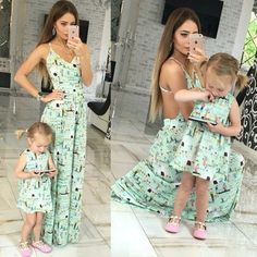 to Find Mommy and Me Matching Outfits for Spring Mommy and Me Matching Mint Outfits for SpringMommy and Me Matching Mint Outfits for Spring Mommy And Me Dresses, Mommy And Me Outfits, Mom Dress, Kids Outfits, Dress Girl, Mother Daughter Matching Outfits, Mother Daughter Fashion, Matching Family Outfits, Outfits Madre E Hija
