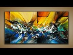 Abstract Painting / DEMO 65 / Abstract Art / How to Paint / Blending Acrylics / Painting Techniques - YouTube