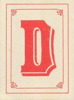 The letter D!