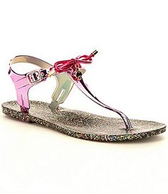 kate spade new york Fanley Bow T-Strap Jelly Thong Sandals