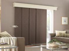 Elegant Room Design: White Blinds For Sliding Door Wooden Kusen Attractive Blinds  For Your Door Adding Wall Decor Beside Door And Other Side Rack Shelving  For Books ...