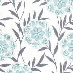 Flora Wallpaper in Teal design by Graham & Brown