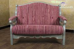 Voglauer Anno 1700 Altblau Landhaus Sofa Couch Garnitur 2 Sitzer 2er  Massivholz