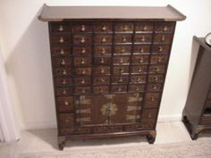 49 Drawer Antique Chinese Medicine Chest Pharmacy Apothecary Medical Cabinet | eBay