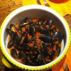 Muscheln in feuriger Tomatensauce