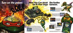 Are you ready for a geek fest that never lets up? (1992) #TMNT #Sega #bitstory