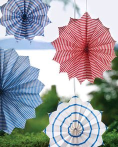 Red white and blue striped pinwheels add so much flair to a backyard