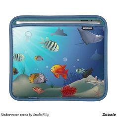 Underwater scene iPad sleeves