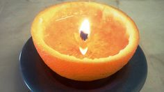 Convert an Orange Into a Candle with a Little Kitchen Oil ~~ never be left in the dark.. . .
