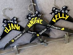 Personalized Cheer Spirit Hanger for uniforms. Cheer camp gift.