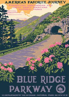 Close to my home, close to my heart. One of the many WPA National Parks posters I'd love to put up in my place.