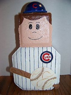 Handpainted-Cubs-Baseball-Player-Patio-Paver-in-outdoor-deco-Sp-Ord