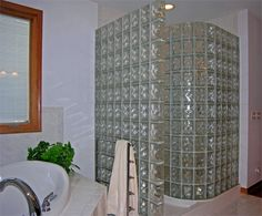 Love glass block showers!