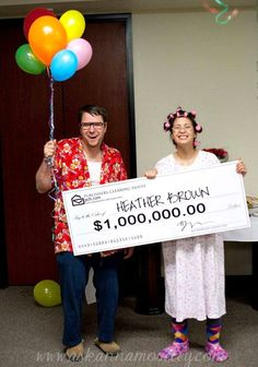 Publishers Clearing House costumes - great couples -his and her costume idea!