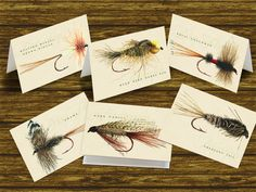 outdoors cards fly fishing note cards by CeceliaJane on Etsy, $12.00