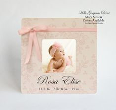 Newborn baby gift picture frame personalized gift for new baby new baby gift picture frame personalized newborn baby girl keepsake custom photo frame infant birthday gift negle Images