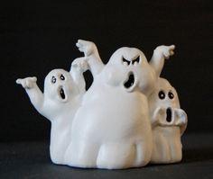 Small Vintage Resin Halloween Ghost Trio by VintageHouseandHome