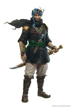 Art by Alessandro Poli - Warrior Fantasy Male, Fantasy Armor, Medieval Fantasy, Inspiration Drawing, Fantasy Inspiration, Character Inspiration, Fantasy Character Design, Character Concept, Character Art