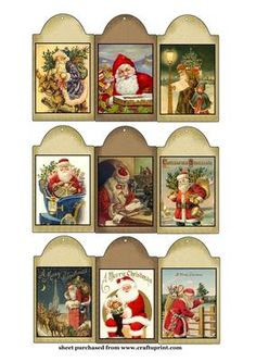 Vintage Holiday Tags Printable Free | Vintage christmas tags/mini toppers 1 by Sharon Poore
